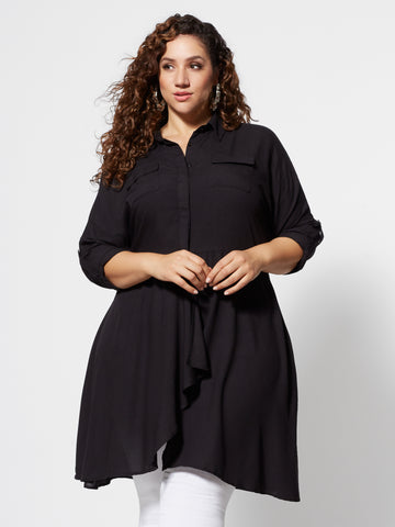 Bellamy Utlility Blouse in Black