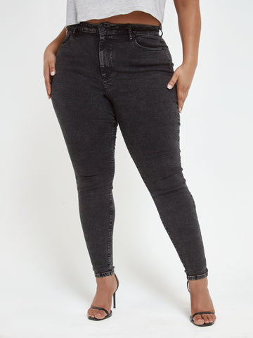 Black High Rise Super Skinny Jeans - Tall Inseam in Black