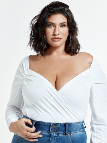 Marilyn Sweetheart Top in White