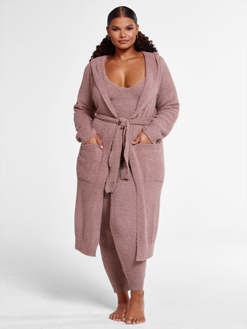 The Cuddle Cardigan in Taupe in Taupe