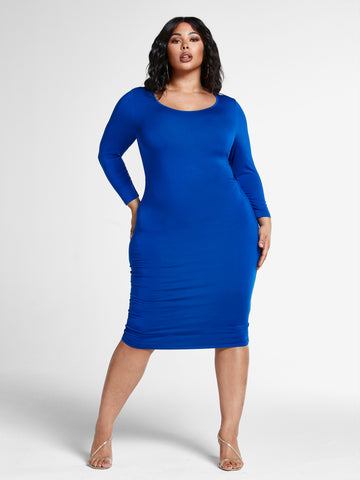 Signature - Everyday Midi Dress in Royal Blue