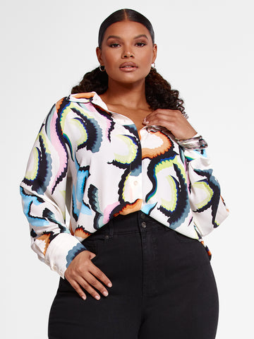 Cia Multicolor Print Button Down Shirt in Multi Color