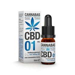 Cannabas - CBD Oil - CBD Oil 1 с 10% CBD - 10 мл - 1000 мг CBD