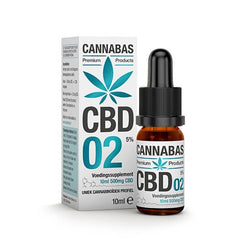 Cannabas - CBD Oil - CBD Olie 2 met 5% CBD - 10ml - 500mg CBD