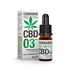 Cannabas - CBD Oil - CBD Olie 3 met 2,5% CBD - 10ml