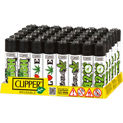 Clipper lighters - Weed slogan (48 pieces)