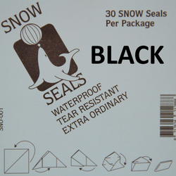 Snow Seal BLACK Large Printed (30 pieces) - BLACK