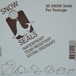 Snow Seal BLACK Large Printed (30 pieces)