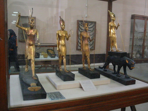 Egyptian Gilt Objects