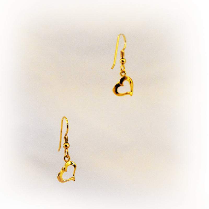 Fluted Heart Earrings - Charmworks