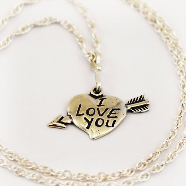 I Love You Heart Necklace - Charmworks
