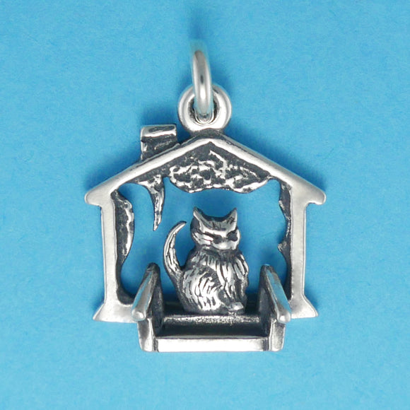 Cat On The Porch Charm - Charmworks