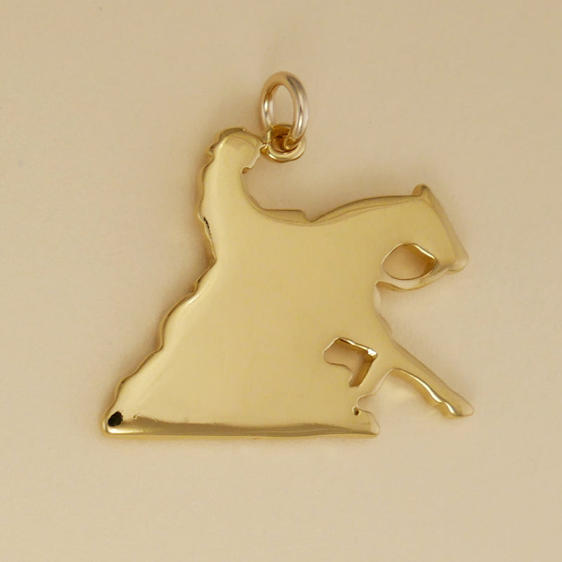 Reining Horse Pendant - Charmworks