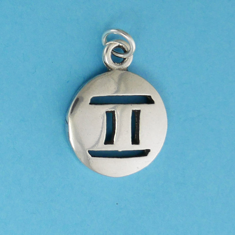 Sterling Silver Gemini Charm - Charmworks