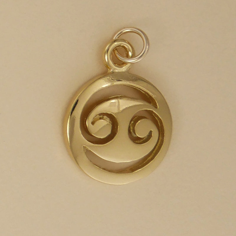 Gold Vermeil Cancer Charm - Charmworks