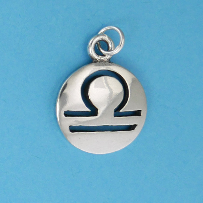 Sterling Silver Libra Charm - Charmworks