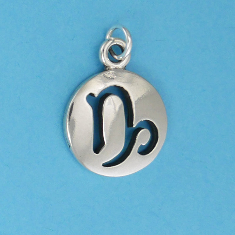 Sterling Silver Capricorn Charm - Charmworks