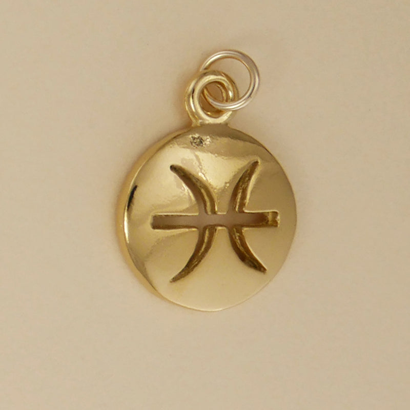 Gold Vermeil Pisces Charm - Charmworks