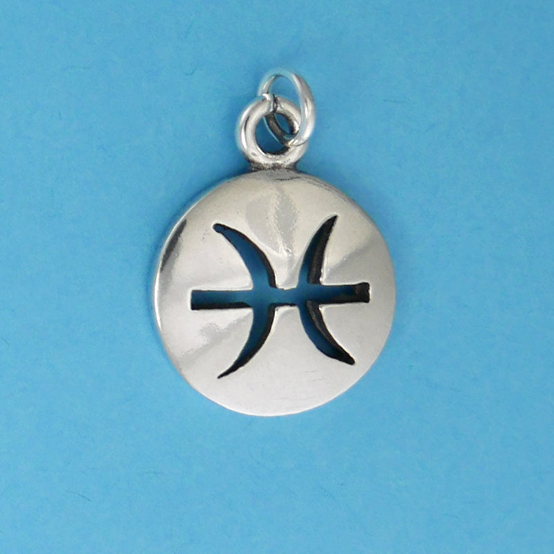 Sterling Silver Pisces Charm - Charmworks