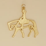 US made gold vermeil western pleasure horse pendant.