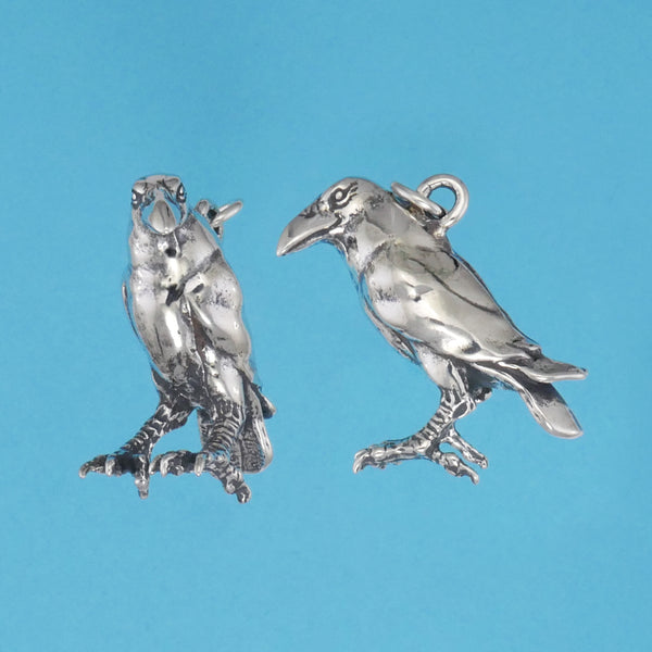 Sterling Silver Raven Pendant - Charmworks