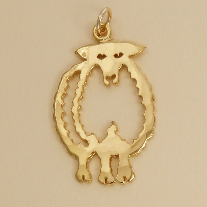 Gold Vermeil Sheep Pendant - Charmworks