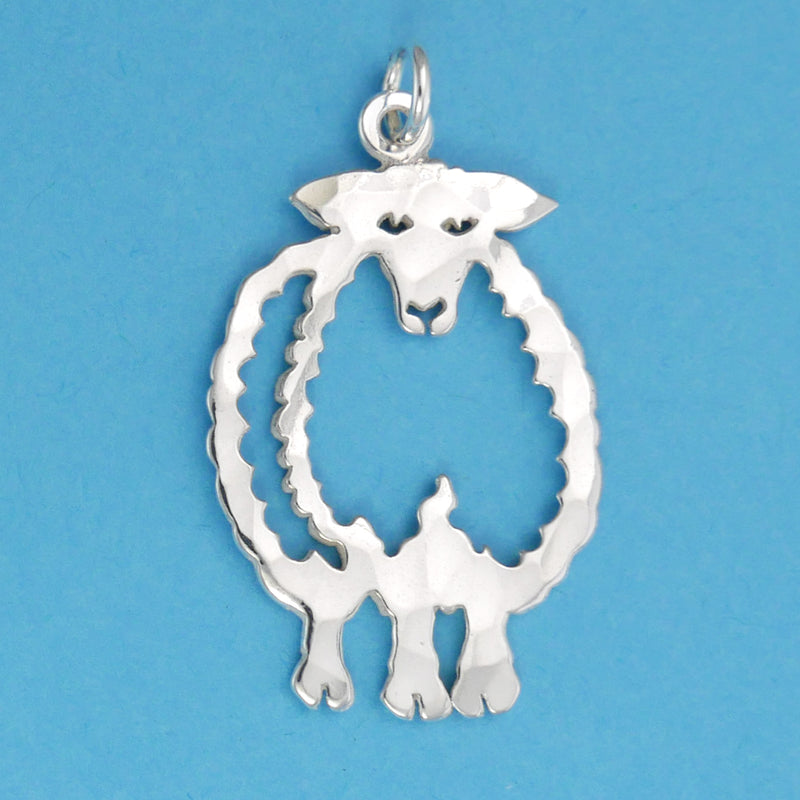Sterling Silver Sheep Pendant - Charmworks