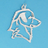 Hand hammered, US made sterling silver nova scotia duck tolling retriever head pendant.