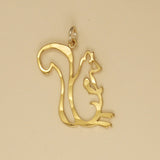 US made gold vermeil squirrel charm.