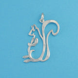US made sterling silver squirrel charm.