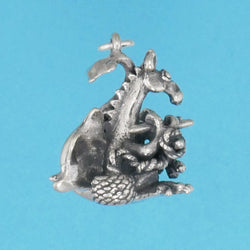 Knitting Dragon Charm - Charmworks