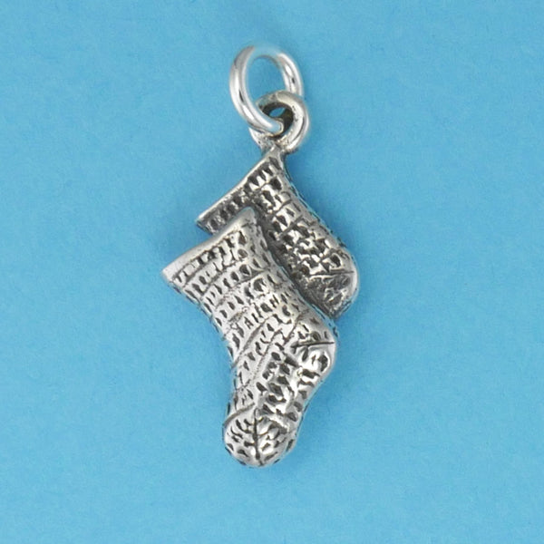 Knitted Baby Socks Charm - Charmworks