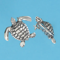 Sterling Silver Sea Turtle Charm - Charmworks