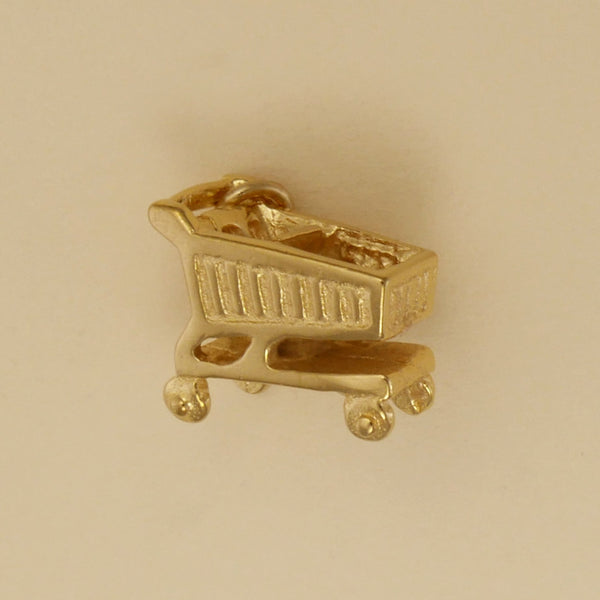 Gold Vermeil Shopping Cart Charm - Charmworks