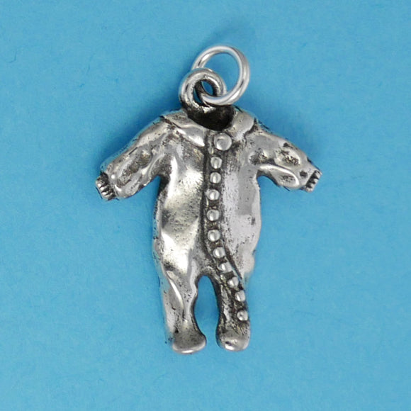 Sterling Silver Onesie Charm - Charmworks