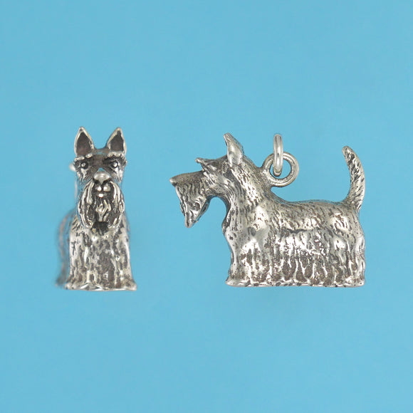 US made sterling silver Scottish Terrier charm.