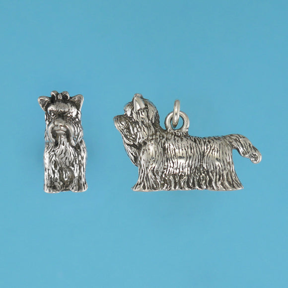 US made sterling silver Yorkshire Terrier charm.