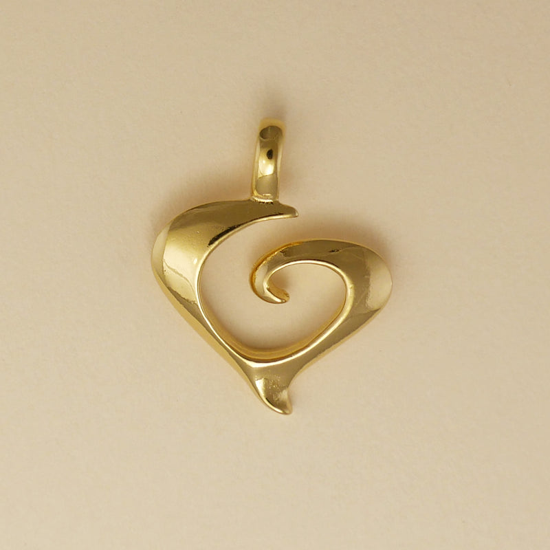 Spiral Heart Pendant - Charmworks