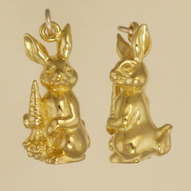 Bunny Rabbit With Carrot Charm - Charmworks