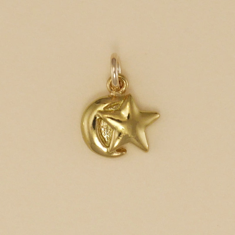 Gold Vermeil Moonstar Charm - Charmworks