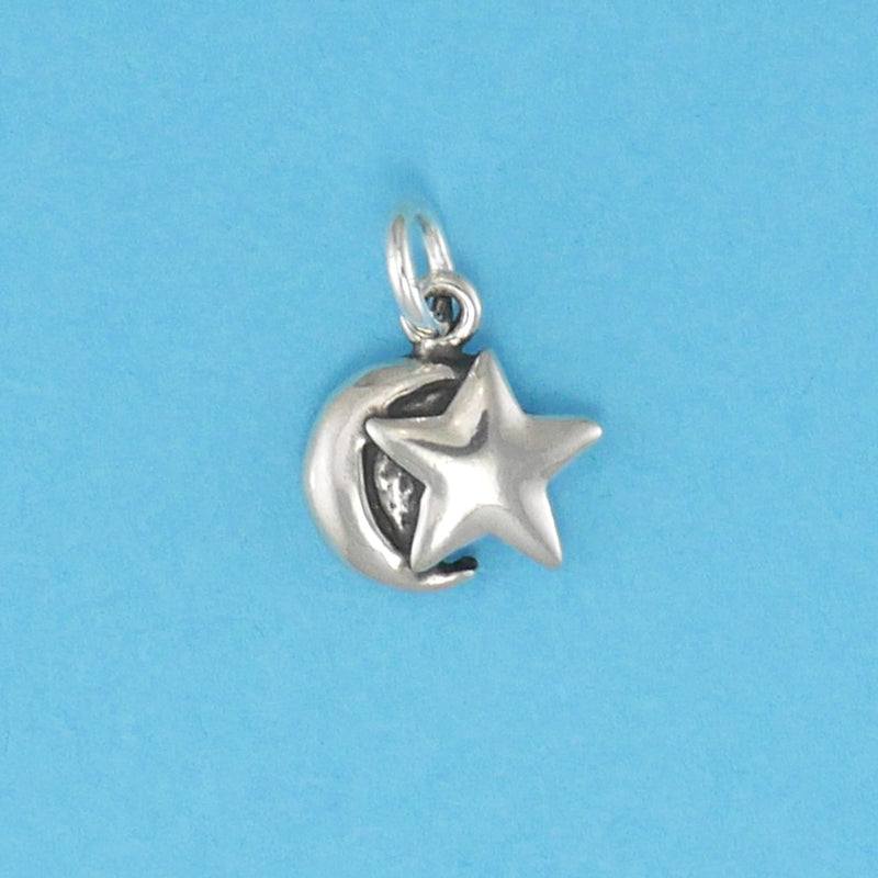Sterling Silver Moonstar Charm - Charmworks