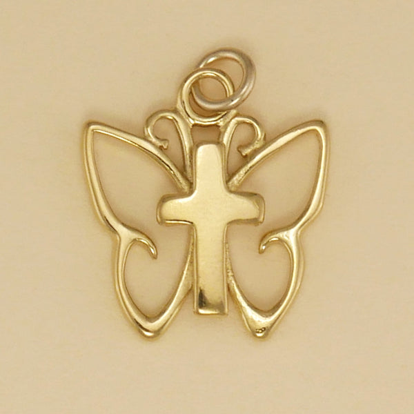 Simple Butterfly Cross Charm - Charmworks