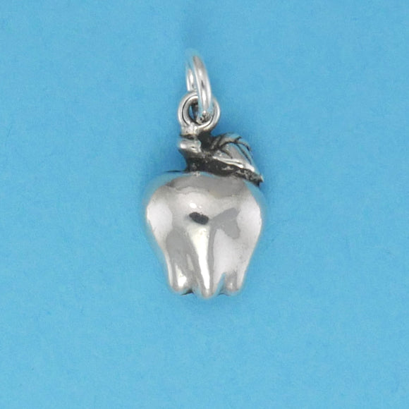 US made sterling silver apple charm.