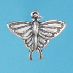 Sterling Silver Swallowtail Butterfly Charm - Charmworks