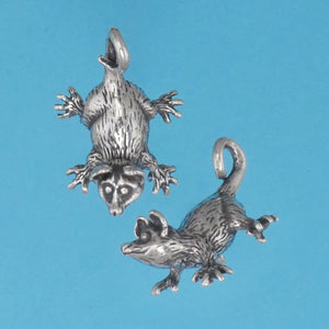 Sterling Silver Opossum Baby Pendant - Charmworks