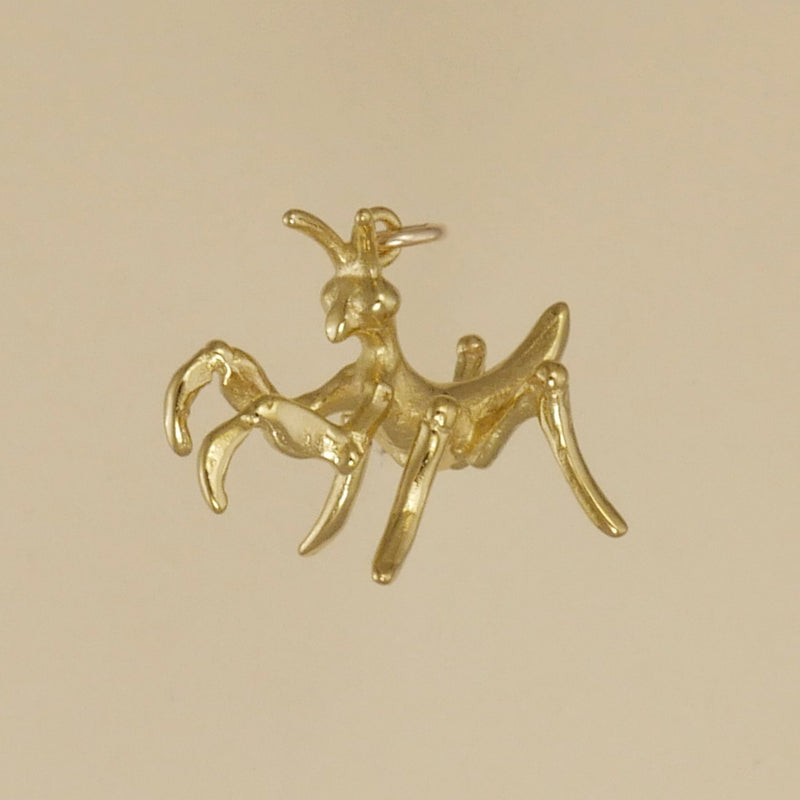 Gold Vermeil Praying Mantis Baby Charm - Charmworks