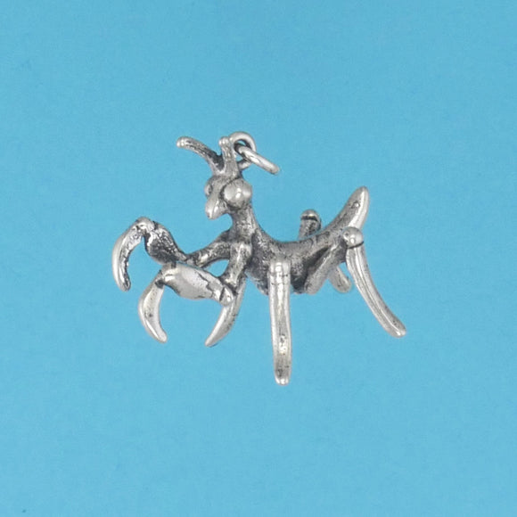 Sterling Silver Praying Mantis Baby Charm - Charmworks