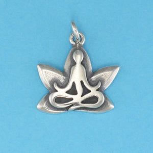 Yoga Lotus Pose Charm