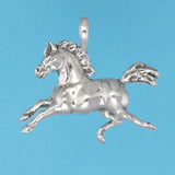 US made sterling silver weather vane horse pendant.