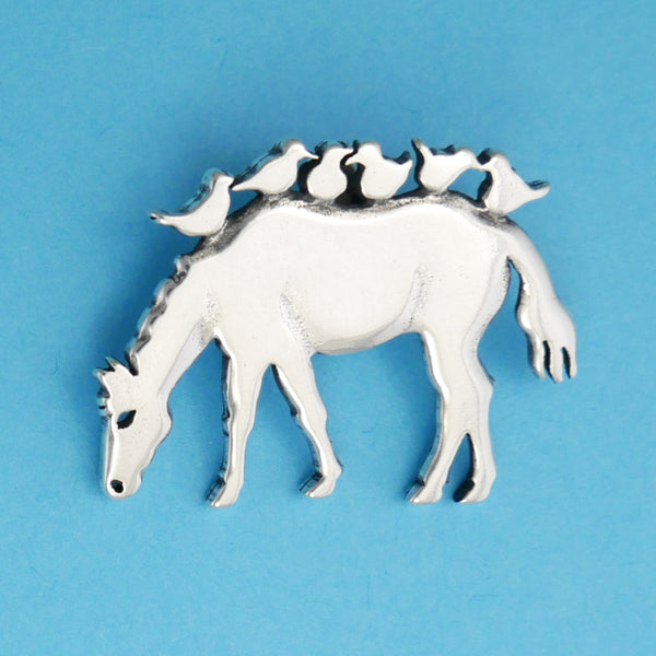 Horse With Birds Pendant - Charmworks